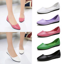 Women Lady Casual Pointed Toe Slip On Ballet Single Shoes Flats Oxfords Loafers