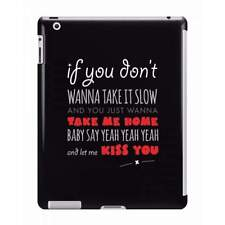 One Direction - Kiss You Lyrics iPad Case - Fun Cases