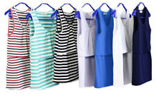 Maternity tops cotton nursing striped cami tank pregnancy breastfeeding shirts