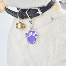 Cute Footprints Pet Dog Cat Stainless Steel Nameplate Charm Metal Card Pet Tag