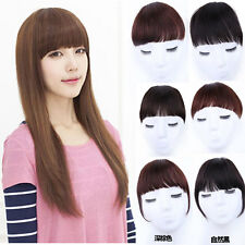 Thick Straight Neat Bang Clip in Fringe Hair Extensions 100% Real Human Hair