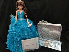 Sweet 15 Fifteen Mis Quince Anos Doll Tiara Pillow with Guest Book Cake Knife