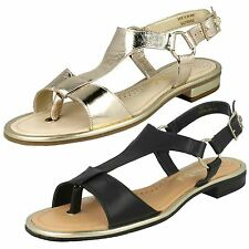 Ladies Van Dal Flat Leather Sandals Lee