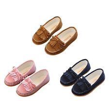 Kids Toddler Girls Casual Slip On Suede Tassel Moccasin Loafers Shoes Loafers