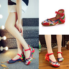 Women Special Traditional Floral Ankle Strap Sandals Flats Ethnic Comfort Shoes