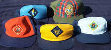 New Official BSA Cub Scout Uniform Caps of Various Ranks and Sizes