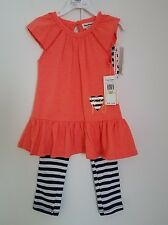 Juicy Couture Toddler Girls' Tunic & Striped Legging Set Size 3T, 4 MSRP $60.00