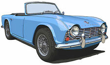 Triumph TR4 canvas art print by Richard Browne 5 colors available
