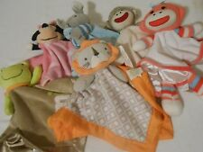 BABY RATTLES SECURITY BLANKET DISNEY CIRCO SOCK MONKEY CARTER'S STARTERS TY