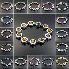 12mm hematite stretchy bracelet natural agate jasper jade turquoise stone beads