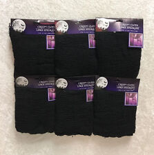 LOT of 6 Packages Halloween Creepy Cloth Black 30 x 72 FREE SHIPPING