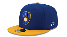 Milwaukee Brewers New Era Cap MLB Authentic Clutch 59FIFTY Fitted Hat