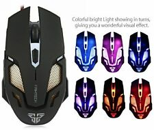 Adjustable 2400DPI Optical LED USB Wired Game Gaming Computer PC Working Mouse