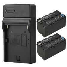 2x NP-F750 Replacement Li-Ion Battery+ Charger For Camera Sony NP-F750 NP-F770