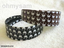 "2 NEW MULTI COLOR POLISH VINYL COVER HARD HEADBAND  / 1 3/4 "" / BUTTERFLY PRINT"