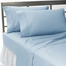 Luxury Bedding Collection Queen Size 1000-TC Egyptian Cotton Sky Blue Solid