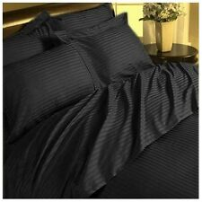 US Choice Bedding Items-Duvet/Fitted/Flat 1000TC Egyptian Cotton Black Striped