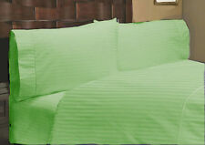 US Choice Bedding Items-Duvet/Fitted/Flat 1000TC Egyptian Cotton Sage Striped