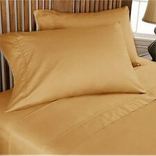 Home Bedding Choice-Duvet/Fitted/Flat 1000TC Egyptian Cotton Gold Solid