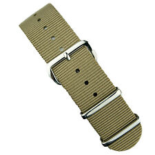 B & R Bands Sand Premium Nylon Military Style Watch Band Strap 18mm 20mm 22mm