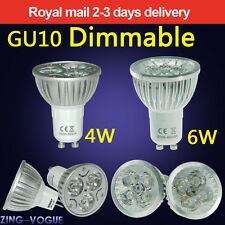 GU10 MR16 G4 Dimmable 4W 6W LED Bulbs Spot Light Lamp High Power Day Warm White