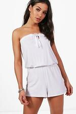 NEW Boohoo Womens Holly Tie Up Beach Playsuit in Polyester