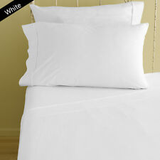1000TC 100%EGYPTIAN COTTON LUXURY BEDDING ITEMS WHITE SOLID ALL US SIZES