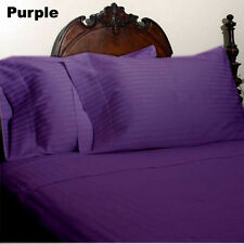1000TC/1200TC 100%EGYPTIAN COTTON US SIZES ALL BEDDING ITEMS PURPLE STRIPED