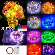 US 2M-10M 20-100LEDs Christmas Waterproof Battery Copper Wire LED String Lights