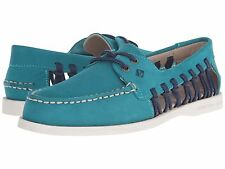 Sperry Top-Sider Haven Women Boat Shoes Leather A/O Authentic Original Teal 8.5