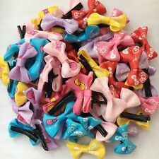 New Small Pet Puppy Dog Cat Hair Bows alligator hairpins Grooming Clips