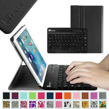 For Apple iPad Case Cover w/ Magnetic Detachable Wireless Bluetooth Keyboard