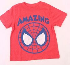 Marvel Comics The Amazing Spider-Man Toddler Boys Red T-Shirt Sizes 18M-2T NWT