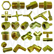BRASS PIPE FITTING BARBED HOSETAIL JOINER TUBING CONNECTOR AIR WATER FUEL GAS