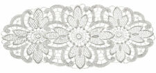 White Floral Lace Oval Doilies Pack of 6 Traditional Table Dressing Home Mats