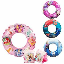 KIDS Character Inflatable Swimming Aid Swim Ring Armbands 3-6 Years ~Disney