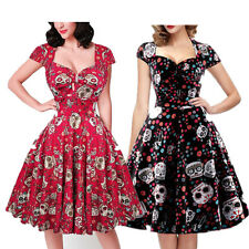 Vintage 50s 60s Retro Floral Womens Rockabilly Swing Party Cocktail Pin Up Dress