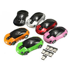 1Pcs 1800DPI New USB 2.4G Wireless Car Shaped Mice Optical For Laptop PC Mouse