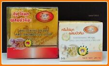 SET OF WHITENING PEARL AND SNOW LOTUS SMOOTHER FACE CREAM AND SOAP