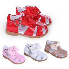 Baby Girls Spanish Bow Sandals Toddler Kids Summer Party Wedding Flat Shoes NEW