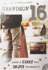 16th Birthday Card Male Son Nephew Grandson Brother 16 Today Greeting Card