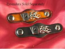 """Flaming Aces"" Vest Extender 2 Colors Bold Leather Sold Separately"