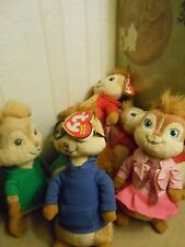 YOU PICK CHIPMUNKS ALVIN SIMON THEODORE BRITTANY JEANETTE PLUSH TY BABW