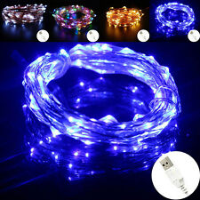 10M 100LED Waterproof USB Copper Wire String Fairy Light Lamp Party Decor