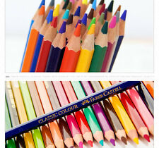 48 Colors Colored Pencils Faber/Castell Water-color Drawing Set&Brush SHARPENER