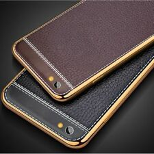 LUXURY PU LEATHER BACK PLATED SOFT CASE COVER FOR IPHONE 7 6S 6 PLUS 5 5S SE