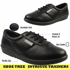 Womens Ladies Girls Walking Running Jogging School Leather Sports Trainers Shoes