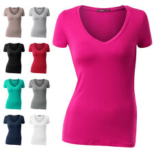 [FINAL SALE] Womens Short Sleeve V-neck Basic Comfy Casual T-Shirts(S~2XL)