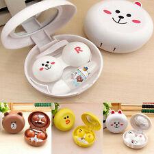 New Travel Portable Cute Catoon Animal Contact Lens Case Container Holder Box US