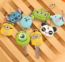Kawaii Cartoon Animal Silicone Key Caps Covers Keys Keychain LA-882